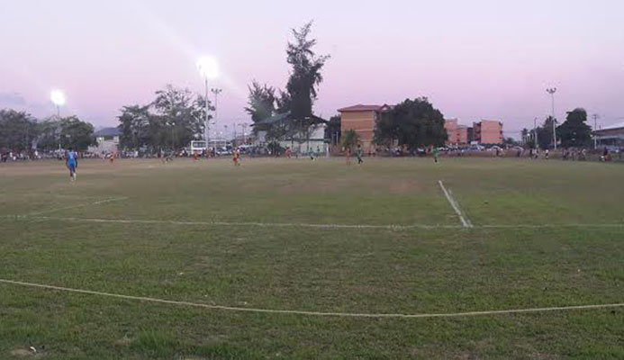 ​A panoramic view during the Digicel Pro League clash between San Juan Jabloteh and Point Fortin Civic at the Barataria Recreation Ground on Mar. 5, 2016.