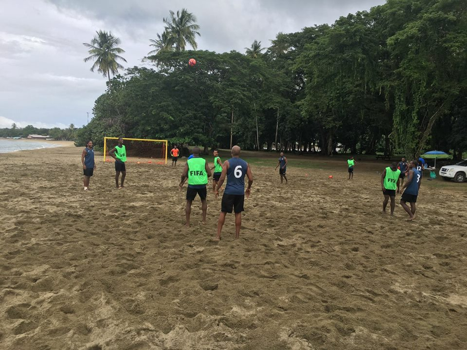 T&T Beach Soccer Team enters Training Camp ahead of CONCACAF Qualifiers.