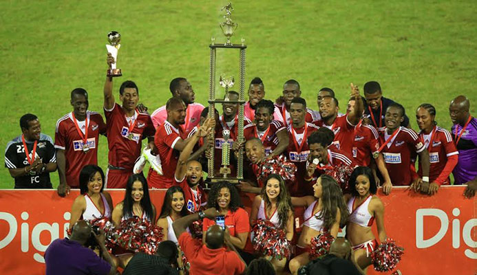 The 2015 Digicel Pro Bowl champions Central FC. (Photo: Allan V. Crane /ttproleague.com)