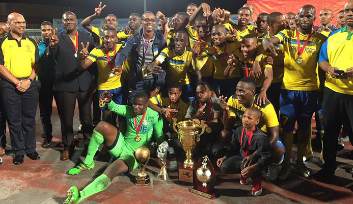 ​Digicel Pro Bowl champions Defence Force.