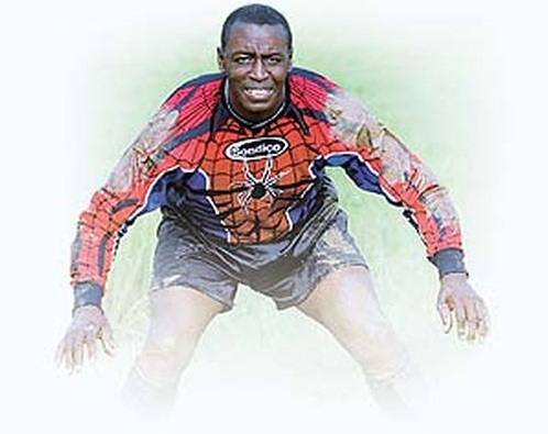 "Photo: Iconic former Trinidad and Tobago goalkeeper Earl ""Spiderman"" Carter."