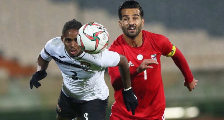T&T Senior Men show grit in 1-0 defeat away to Iran.