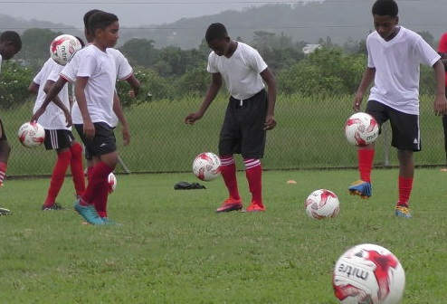 Photo: The Trinidad and Tobago National Under-14 Team trains as part of the NLCB Elite Programme in February 2018. ...(Copyright TTFA Media)