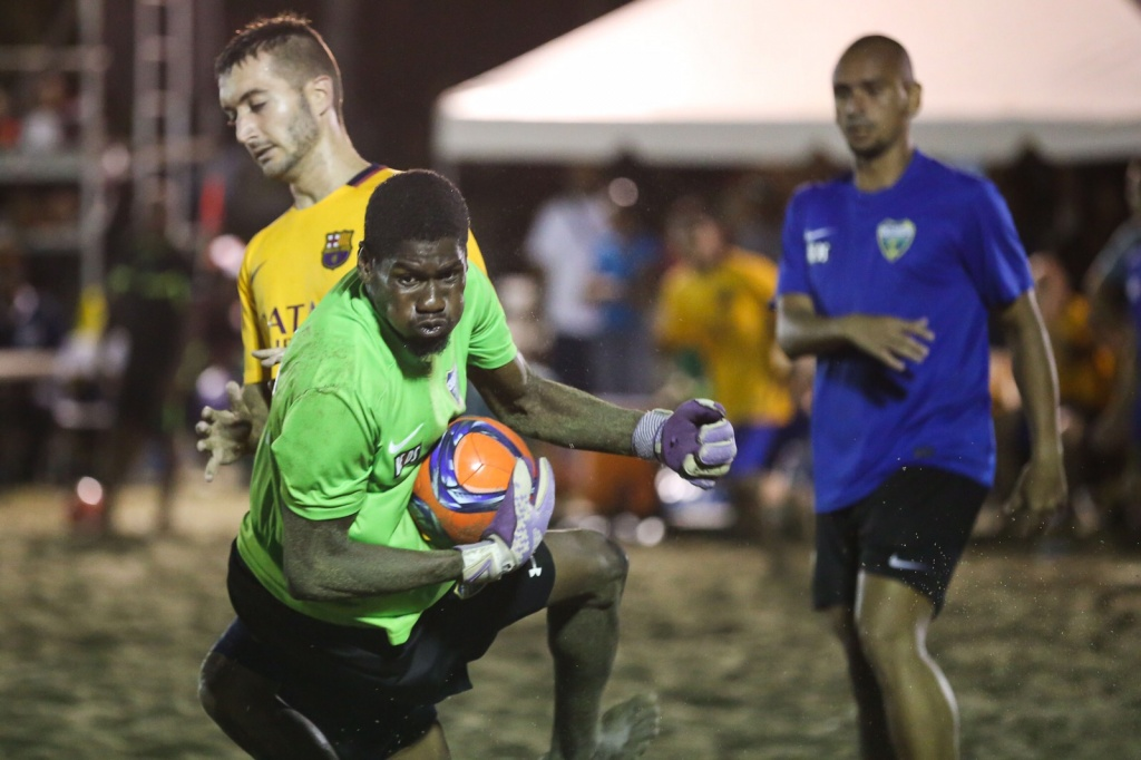 One on one with Victor Thomas - T&T beach soccer goalkeeper.