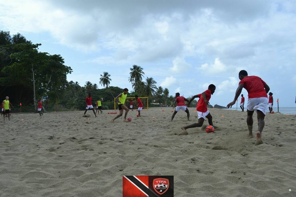 The team in training at Turtle Beach Resort in Tobago.