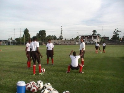 Members of Trinidad and Tobago's youth Women Team in training.