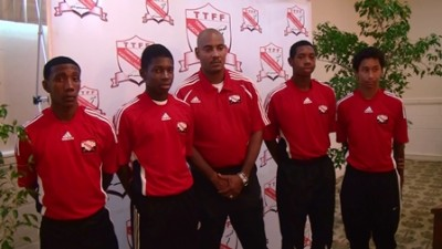 From left - Akeem Garcia, Dre Fortune, Shawn Cooper, Brendon Creed and Matthew Woo Ling. (Credit: TTFF Media).