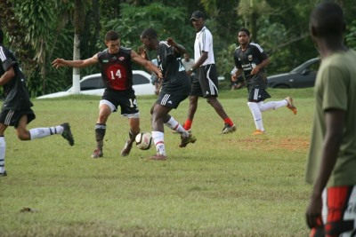 U-20 men's team play in Biche.