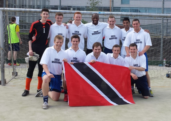 Marvin Andrews with the Soca Warriors sevens team