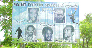 Board of heroes: Point Fortin sporting icons Doyle Griffith, Victor