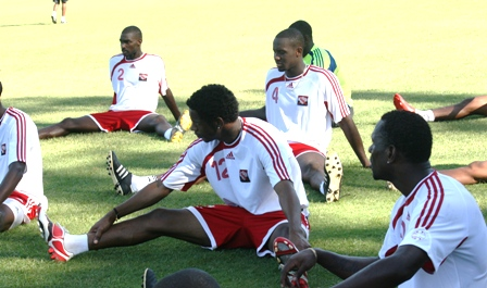 #12 Kevaughn Connell in training with the T&T team (Photo: Shaun Fuentes).