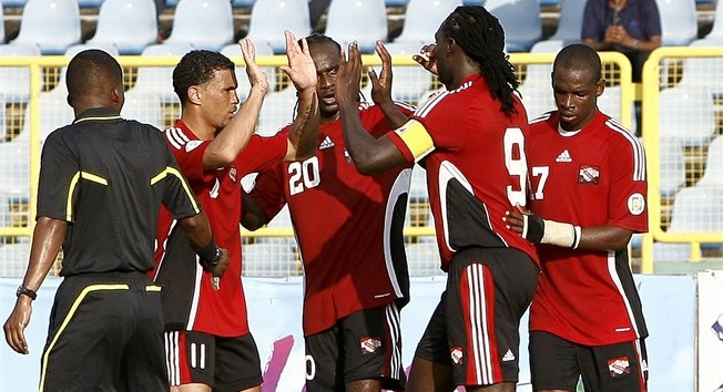 T&T players celebrates.