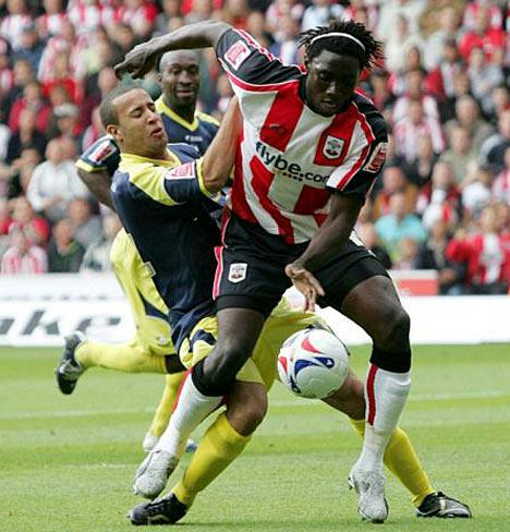 Kenwyne Jones in action for his former club Southampton