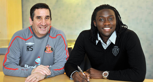 Sunderland Manager Ricky Sbragia (left) and Kenwyne Jones.