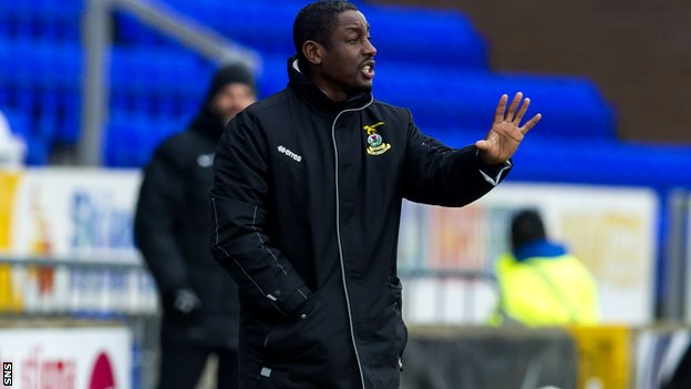 Russell Latapy as Inverness Caley Thistle's assistant coach