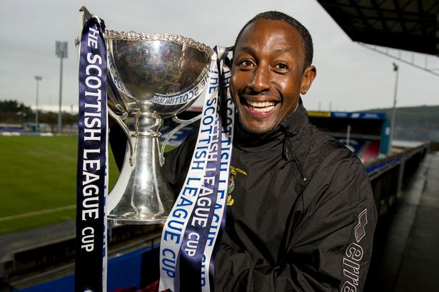 Russell Latapy with Scottish League Cup
