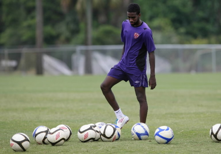Kevin Molino at Orlando training ground