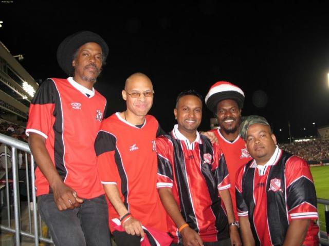 Soca Warriors Online members from left Tallman brudda, Patriot, Flex Mohammed, Nigel