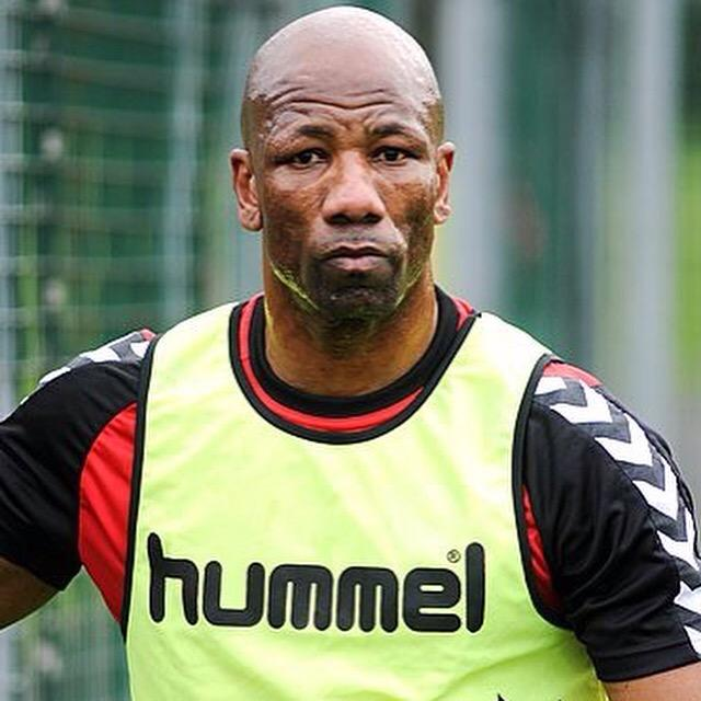 Marvin Andrews training with Clyde FC