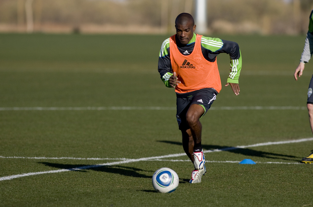 Kerry Baptiste training with Seattle Sounders