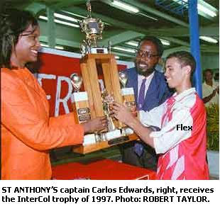 FLASHBACK - Carlos Edwards in his St Anthony's College days.