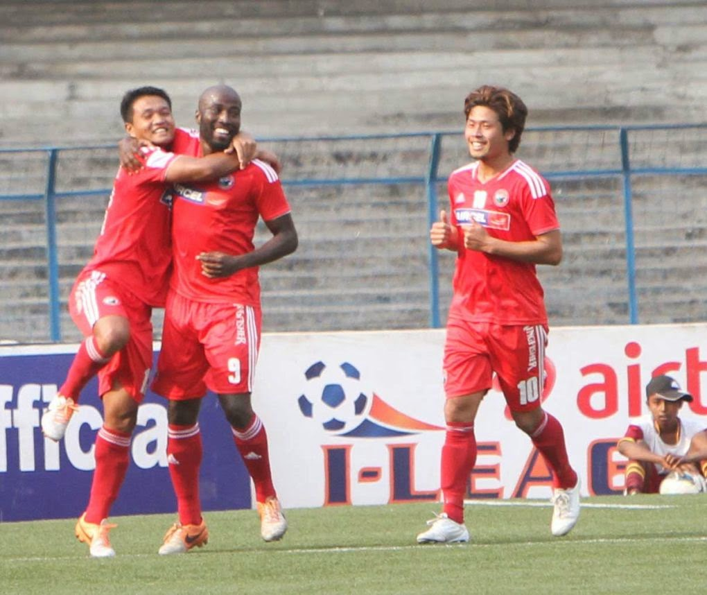 Cornell Glen scoring a hattrick against Mohammedan Sporting