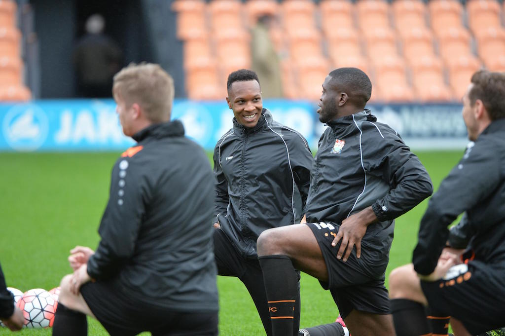 Gavin Hoyte during a Barnet FC training session.