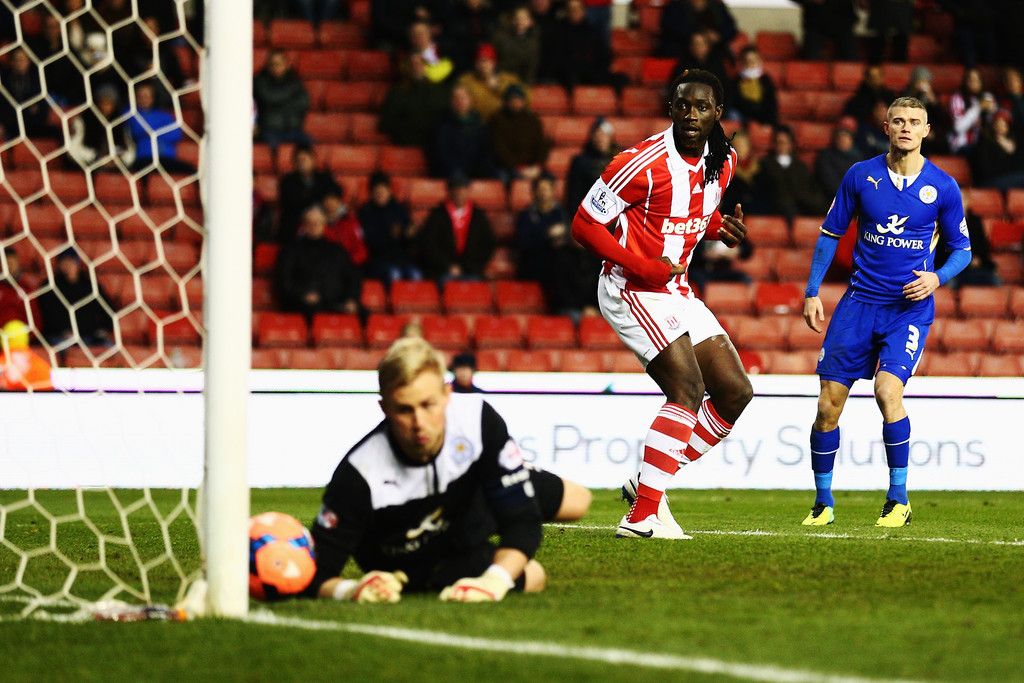 Kenwyne Jones in action versus Leicester City