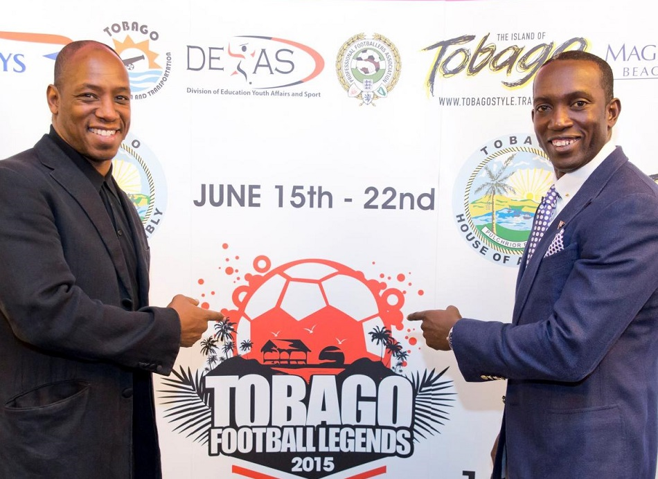 Dwight Yorke and Ian Wright launch Tobago Football Legends 2015