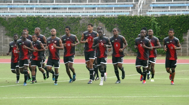 Soca Warriors outfit at the National Sports Centre, Hamilton