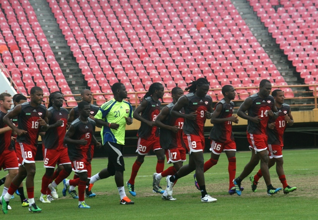 T&T team training in Guyana (Photo Credit: Shaun Fuentes/TTFF Media).