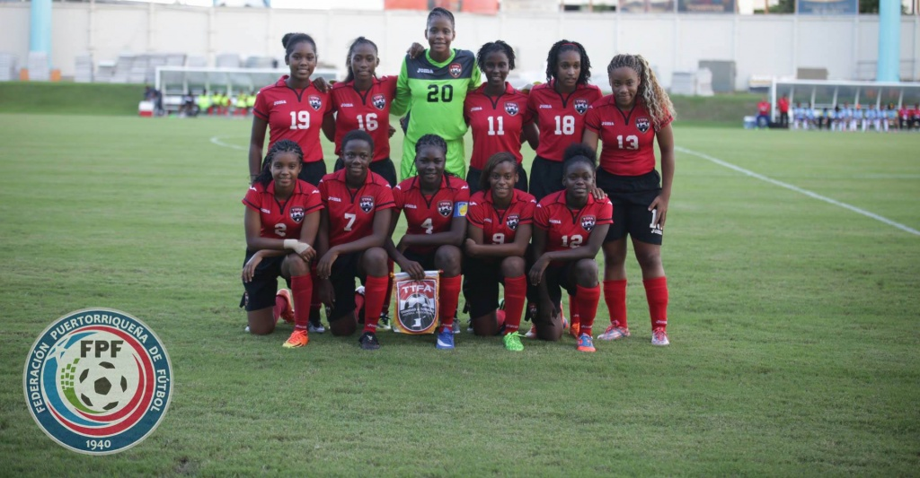 Trinidad and Tobago U-17 Women's starting lineup vs the Dominican Republic