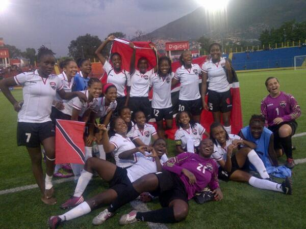 T&T Women's U-17 after defeating Puerto Rico