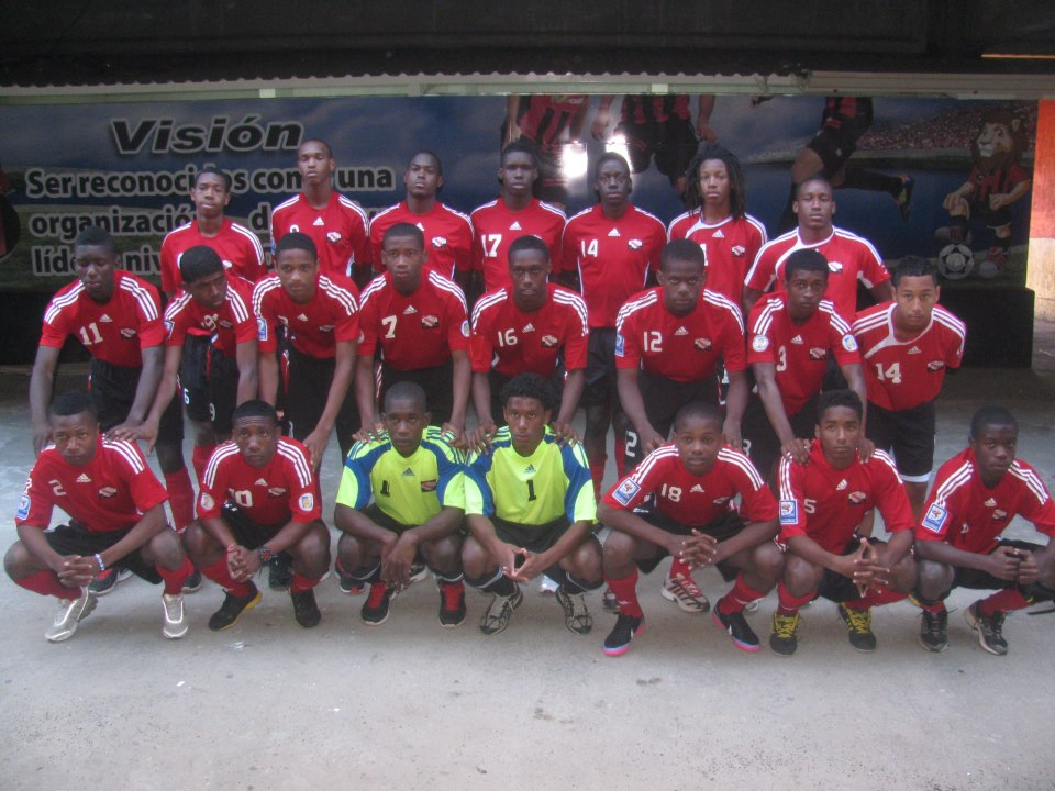 T&T U-17 team in Costa Rica