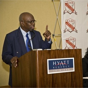 Jack Warner gives speech at the Trinidad Hyatt.