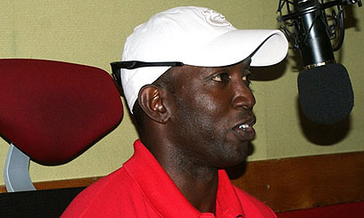 Dwight Yorke at Capital FM Studio in Kenya