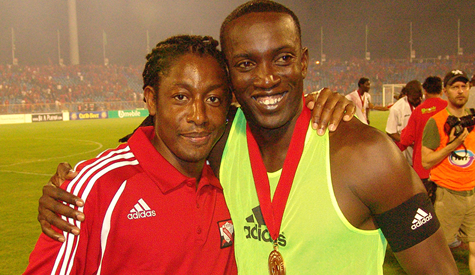 Russell Latapy and Dwight Yorke (Photo credit: Randy Bando of ttproleague).