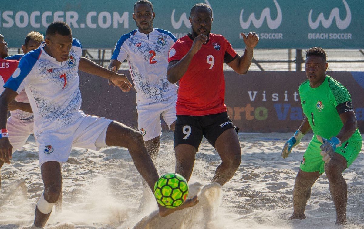 T&T go down 4-3 to Panama in Beach Soccer group decider.