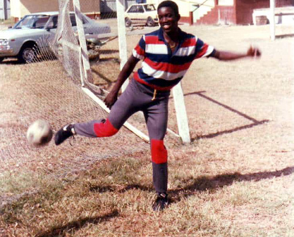 Photo: A teenaged Dwight Yorke shows off his touch in Tobago. (via Kreol Magazine)