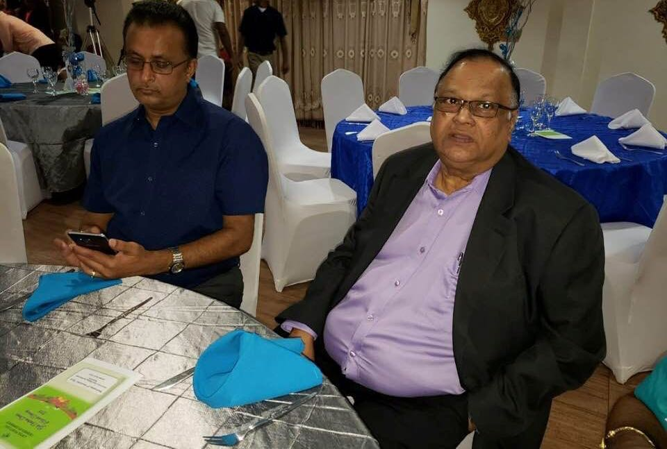 Central Football Association (CFA) President Shymdeo Gosine (right)