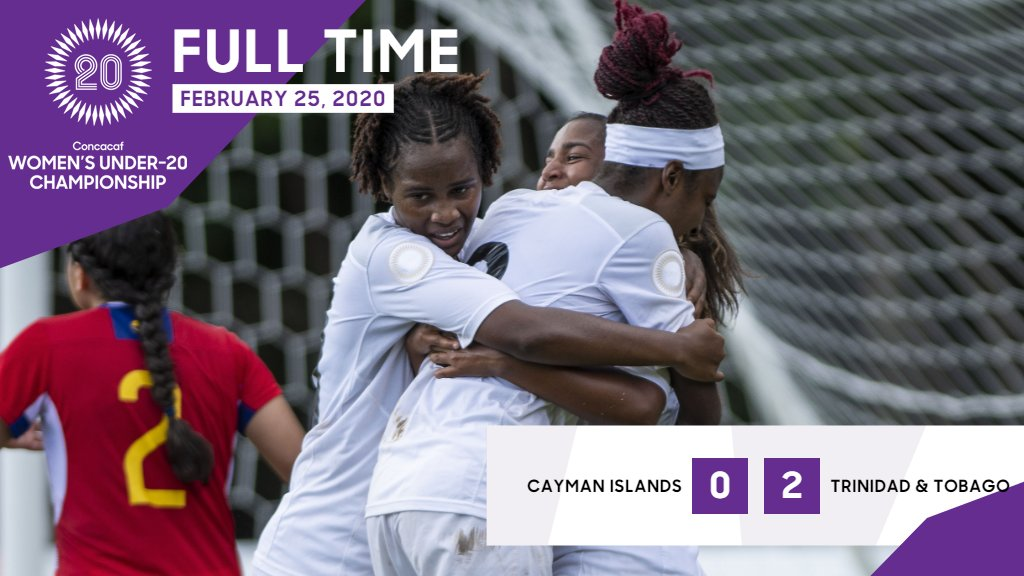 U20 Women advances to the knockout stage with 2-0 win over Cayman.