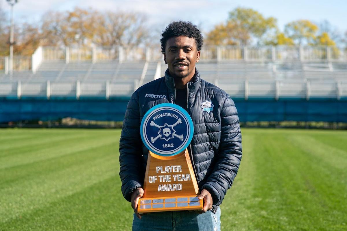 Akeem Garcia was voted the Privateers 1882 Player of the Year 2020.