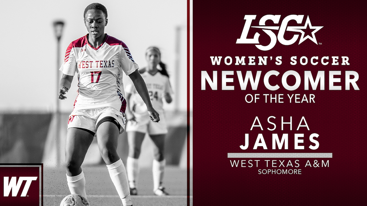 West Texas A&M's Asha James named Lone Star Conference Newcomer of the Year