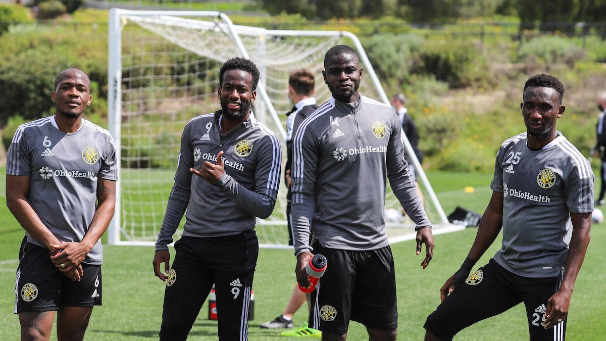Columbus Crew's Kevin Molino (second from left)