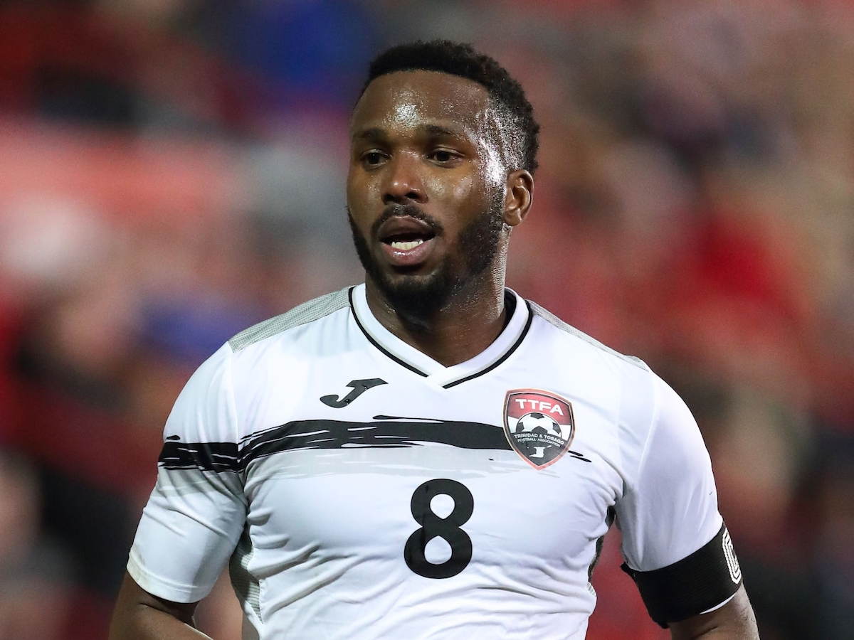 Khaleem Hyland of Trinidad and Tobago during the International Friendly between Wales and Trinidad and Tobago at Racecourse Ground on March 20, 2019 in Wrexham, Wales. (Photo by James Williamson - AMA/Getty Images)