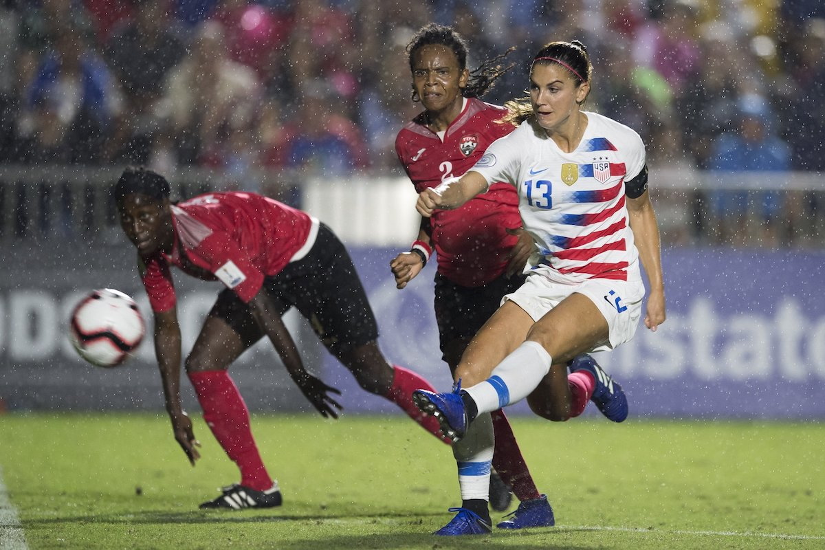 9492172834d USA Women top Group A after 7-0 win vs Trinidad and Tobago at 2018 ...