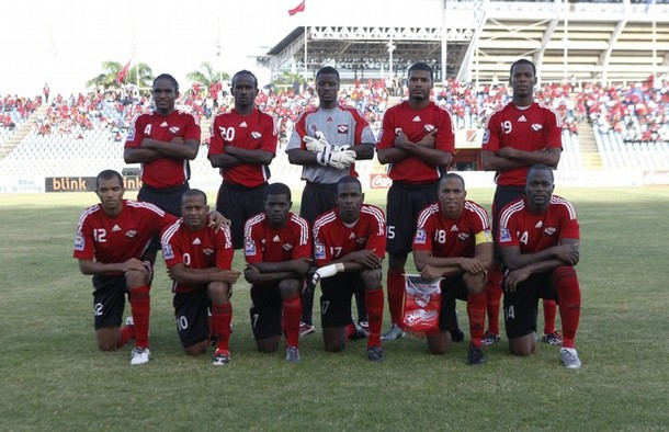 T&T team line up before India match.